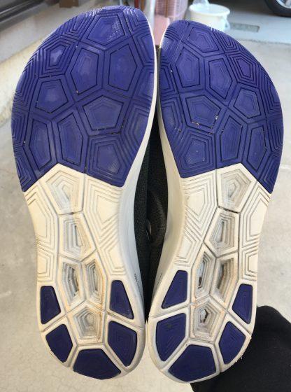 ナイキ『ズームフライフライニット』の靴の裏の写真
