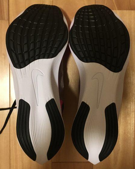 ナイキ『ズームフライ3』の靴の裏の写真