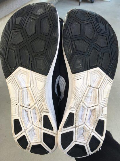 ナイキ『初代ズームフライ』の靴の裏の写真
