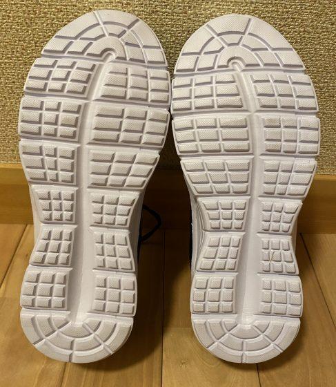 ワークマン『アスレシューズライト』の靴の裏の写真