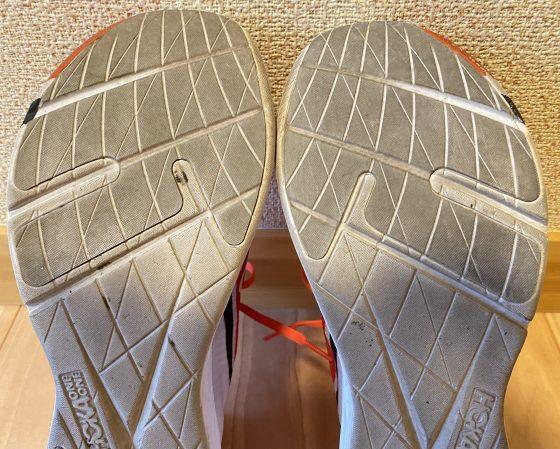 ホカオネオネ『ロケットx』の靴の裏の写真